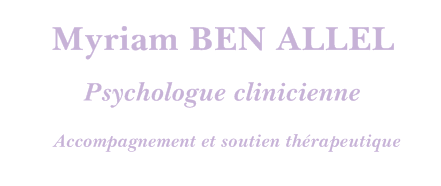 Myriam BEN ALLEL – Psychologue pour enfant, adolescent, adulte à Beauvais